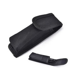 Outdoor black nylon Flashlight Pouch Flashlight Holster Torch Pouch WaistBeltF&F