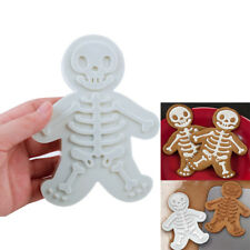 3D Skeleton Gingerbread Man Plunger Biscuit Cookies Cutter Cake Decor Mold Tools