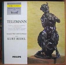 """KURT REDEL/TELEMANN/ORCHESTRE""""PRO ARTE"""" DE MUNICH FRENCH LP PHILIPS"""
