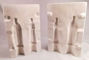 VINTAGE ALBERTA'S A13A KING AND QUEEN CHESS PIECES CERAMIC SLIP CASTING MOLD