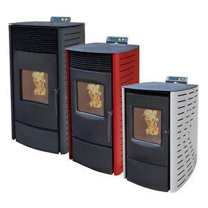 NEMAXX Pelletofen 6-9-12 kW Pelletheizung ECO-Modus WiFi-Ready + Bio-Holzpellets