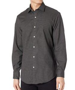 Tommy Hilfiger Mens Slim Fit THFlex Supima Stretch Check Dress Shirts 15.5/34-35
