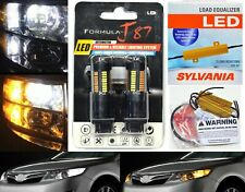 LED Switchback Light 4014 White Amber 3157 Two Bulbs Resistor F Turn Signal DRL