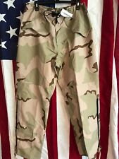 Military Camo Gore-Tex Trousers Extended Cold Weather DESERT Size Medium/Long