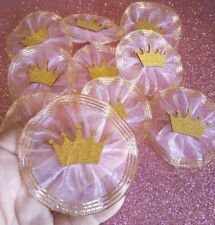 Royal Princess Crown Baby Shower Corsage, 24pcs favors Pink & gold keepsake