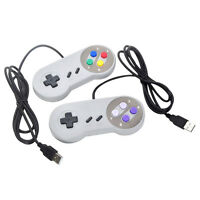 2XNew Wired SNES USB Retro Classic Game Pad Controller Super Nintendo For PC MAC