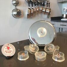 One Revere Ware Tel U Top Clear Lucite Replacement Knob for Nesting Canisters