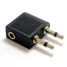 3.5mm Stereo Jack Socket to Twin Mono Plugs Aeroplane Adapter [005791]