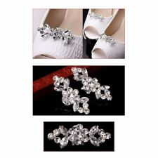 2Pcs Of 1 Pack Rhinestone Shoes Buckle Elegant Fashion Shoe Clips For Decorating