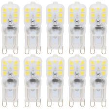 10er 3W G9 LED Lampen mit PC Material,Ersatz Halogenlampen,180lm,Kaltweiß 6000K