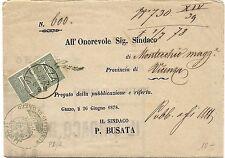 P7677   Vicenza, annullo cerchio grande su piego amministrativo, 1878