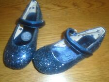 NWT baby girl dark blue glitter/sparkle shoes. Size 8. M&S                (2/1)