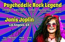 Psychedelic Rock Legend Janis Joplin California Drivers License
