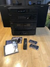 Sony LBT-D109 Hi-Fi Stereo System, Two SS-D110 Speakers, Remote, Manual, MINT