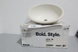 Kohler K 2219-96 Linia Biscuit Undermount Bathroom Sink w/Glazed Underside