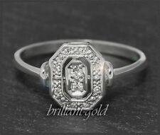 Diamant Ring aus 585 Gold, Weißgold, mit 0,15ct Diamanten, Neu