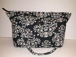 Vera Bradley Get Going Tote Bag Chandelier Noir Black shoulder purse
