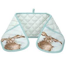 Wrendale Hare Double Oven Glove Mitt Pot Holder Blue Cute Animals Portmeirion