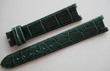 GENUINE TUDOR WATCH BAND STRAP BEAUTIFUL EMERALD GREEN LEATHER 17 x 14 mm NEW