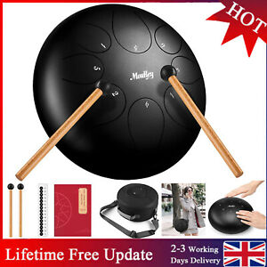 Steel Tongue Drum 12 inch major 13 Notes Percussion with Drum Mallets Bag Book
