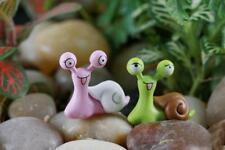 10pcs Miniature Snails Fairy Garden Dollhouse Bonsai Figurine Decor Ornament