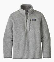 PATAGONIA Boys' Better Sweater 1/4-Zip Fleece, X-Large (14), Gray, EUC-Free Ship