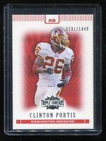 2007 Topps Triple Threads #38 Clinton Portis (Washington Redskins) #d 0291/1449