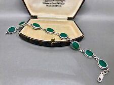 Lovely Malachite Sterling Silver Bracelet