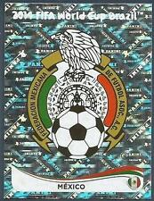 PANINI WORLD CUP 2014- #070-MEXICO TEAM BADGE-SILVER FOIL