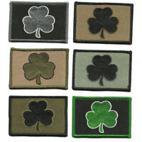 "BuckUp Tactical Patch Hook Clover shamrock Irish Patches 3x2"""