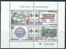 Spanien - Post- und Fernmeldemuseum Block 24 postfrisch 1981  Mi. 2528-2529
