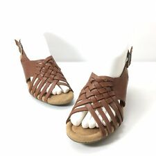 Bass Woman's Sandals Leather Brown size 7M