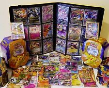 50 Pokemon Cards and Tin GUARANTEED GX/EX/FULL ART/ BREAK/ ULTRA RARE/SHINY/HOLO