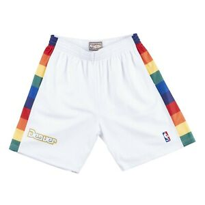 White Denver Nugget Mitchell & Ness NBA Men's Swingman Shorts