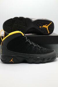 Air Jordan 9 Retro Dark Charcoal Black University Gold CT8019-070 Size 3.5-13