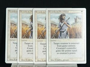 "4x ""Swords to Plowshares"" Magic the Gathering (Revised) 