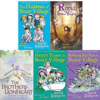 Astrid Lindgren 5 Books Collection Set he Children of Noisy Village, Ronia NEW