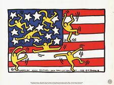 KEITH HARING - AMERICAN MUSIC FESTIVAL 1988 - NYC CITY BALLET * RARE PRINT 1993