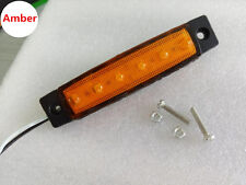10x 4x 12V 6LED SMD Side Marker Indicator Light Lamp Bus Van Truck Trailer Lorry