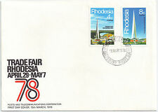Rhodesia 1978 Feria de Abril de 29 a mayo 7 FDC.