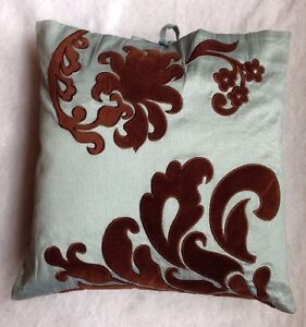 "Throw PILLOW Custom Made Size: 18 x 18"" New SHIP FREE Teal Green / Brown Подушка"