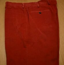 New INCOTEX Paul Stuart Phineas Cole Maple Red Corduroy Men's Pants NWT 32 33
