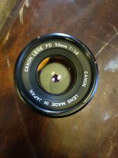 Canon FD 50mm 1:1.8 SLR Camera Lens +++ Made in Japan Excellent Condition