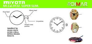 Movement MIYOTA CAL.9T22. Super Slim