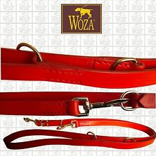 EXCLUSIVE MULTI PURPOSE DOG LEAD WOZA COW FULL LEATHER HANDMADE ADJUSTABLE F3727