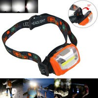 600LM Mini LED COB Linterna Frontal Head Lámpara Antorcha Luz Cabeza Headlight