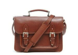 ONA - The Brooklyn - Chestnut Leather Camera and Tablet Satc
