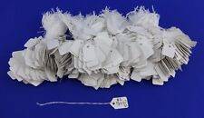 500 Blank White Strung Merchandise Price Tags #1