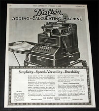 1919 OLD MAGAZINE PRINT AD, DALTON ADDING-CALCULATING MACHINES FOR DURABILITY!