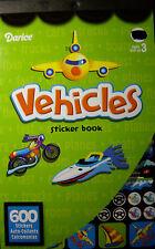 NEW VEHICLES STICKER BOOK Plane Boat Car MotorcycleTruck Racecar 600 pc.DARICE